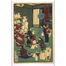 Toshikazu: Depictions of Various Industries: Decorating Pottery - Edo Tokyo Museum