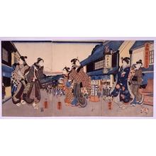 Utagawa Kuniteru: Hon-cho 2-chome, in the Eastern Capital - Edo Tokyo Museum