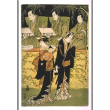 鳥居清長: Degatari' (Musicians) with SAWAMURA Sojuro III as Jihei and IWAI Hanshiro IV as Koharu - 江戸東京博物館