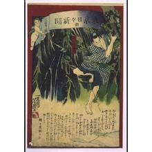 Ochiai Yoshiiku: Tokyo Nichinichi Shimbun Newspaper, No. 322 - Edo Tokyo Museum