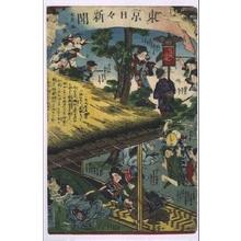 Ochiai Yoshiiku: Tokyo Nichinichi Shimbun Newspaper, No. 723 - Edo Tokyo Museum