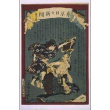 落合芳幾: Tokyo Nichinichi Shimbun Newspaper, No. 885 - 江戸東京博物館