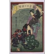Ochiai Yoshiiku: Tokyo Nichinichi Shimbun Newspaper, No. 909 - Edo Tokyo Museum