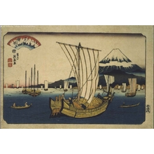 渓斉英泉: Eight Views of Edo: Returning Sails at Shibaura - 江戸東京博物館