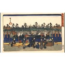 Utagawa Hiroshige: Famous Places in the Eastern Capital (Edo): Wisteria Blossom at Kameido - Edo Tokyo Museum