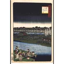 二歌川広重: One Hundred Views of Famous Places in the Provinces: Enjoying the Cool of Evening at Shijo, Kyoto - 江戸東京博物館