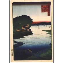 二歌川広重: One Hundred Views of Famous Places in the Provinces: Noge, Yokohama, Musashi - 江戸東京博物館