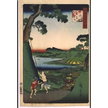 Utagawa Hiroshige II: One Hundred Views of Famous Places in the Provinces: Lake Inbanuma, Shimousa - Edo Tokyo Museum