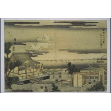 Shotei Hokuju: Looking out to Sea from Susaki Benten Shrine, Fukagawa, Eastern Capital (Edo) - Edo Tokyo Museum
