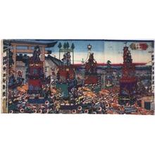 芳藤: Picture of the Kanda Festival, Tokyo - 江戸東京博物館