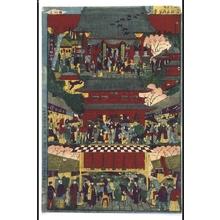 Utagawa Kunitoshi: Famous Places in Tokyo: Kinryuzan Sensoji Temple - Edo Tokyo Museum