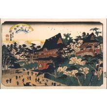 Keisai Eisen: Eight Views of Edo: The Evening Bell at Ueno - Edo Tokyo Museum