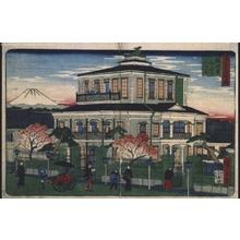 Utagawa Hiroshige III: Famous Views of Tokyo: The House of Mitsui, Suruga-cho - Edo Tokyo Museum