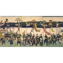 Utagawa Hiroshige III: We Want Sake! - Edo Tokyo Museum