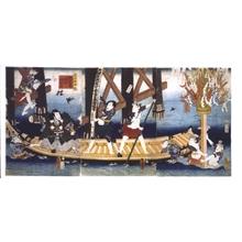 歌川国貞: Funabenkei Pastiche: Purification Through Prayer - 江戸東京博物館