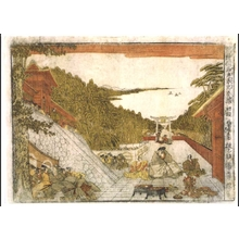 北尾政美: Perspective print: Kanadehon Chushingura, Act 1 - 江戸東京博物館