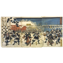 Utagawa Hiroshige: The Loyal Retainers Take Their Revenge, from Chushingura - Edo Tokyo Museum