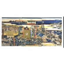 UTAGAWA Kunisato: Grand Sumo Tournament at Ryogoku - 江戸東京博物館