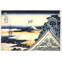 葛飾北斎: Thirty-six Views of Mt. Fuji: Honganji Temple at Asakusa in the Eastern Capital - 江戸東京博物館