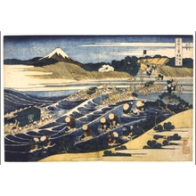 葛飾北斎: Thirty-six Views of Mt. Fuji: Fuji from Kanaya on the Tokaido - 江戸東京博物館