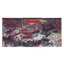 歌川豊国: The Battle of Toeizan Temple - 江戸東京博物館