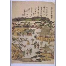 Unknown: Eight Views of Edo: The Mejirodai Fudo Temple - Edo Tokyo Museum