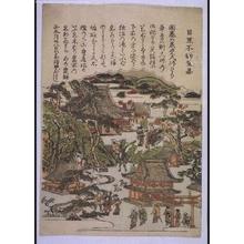 Unknown: Eight Views of Edo: The Meguro Fudo Temple - Edo Tokyo Museum