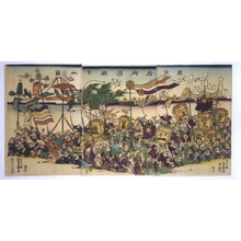 UTAGAWA Yoshimori: The City of Tokyo Donates Sake - 江戸東京博物館