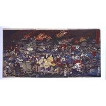 Kawanabe Kyosai: The Battle of Ueno: Defeat - Edo Tokyo Museum