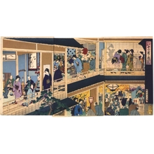 Toyohara Chikanobu: Annual Edo Customs: Tenth Month, Prosperous Merchants Worship the God of Wealth - Edo Tokyo Museum