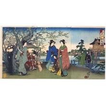 Watanabe Nobukazu: Plum Trees in Kameido - Edo Tokyo Museum