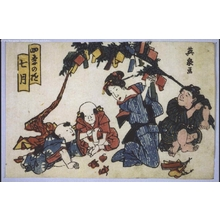 渓斉英泉: Amusements in the Four Seasons: Seventh Month - 江戸東京博物館