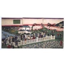 Ikkei: Bustling Mansei Bridge in Kanda, Tokyo - Edo Tokyo Museum