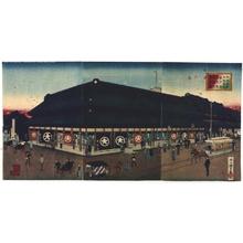 INOUE Tankei: The Prosperous Daimaru Dry Goods Shop in Odenma-cho 3-chome, Nihonbashi Ward - 江戸東京博物館