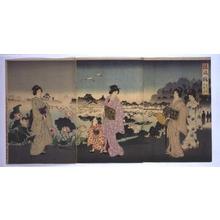 Toyohara Chikanobu: Japanese Customs: Enjoying the Morning Dew Beside Shinobazu Pond - Edo Tokyo Museum