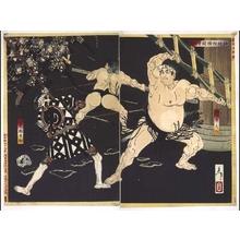 Tsukioka Yoshitoshi: The Sumo Tournament at Shimei Shrine - Edo Tokyo Museum