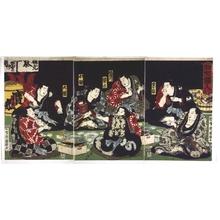 Utagawa Kuniteru: Pastiche of the Seven Gods of Luck - Edo Tokyo Museum