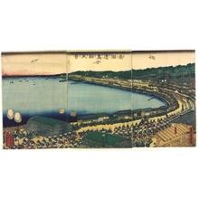 Utagawa Sadahide: Takanawa on the Tokaido - Edo Tokyo Museum