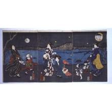 Utagawa Kuniaki: Chasing Fireflies in Mukojima - Edo Tokyo Museum