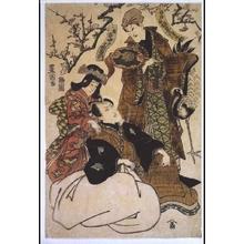 歌川豊国: Nakamura Utaemon III as Hotei and Bando Mitsugoro as Fukurokuju - 江戸東京博物館