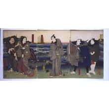 Utagawa Kunisada: Izuya Yosaburo as Otomi, Akama�fs Mistress - Edo Tokyo Museum