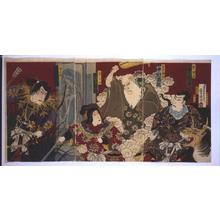 歌川国政: The Kabuki Play Chinzei Hachiro Eiketsu-banashi - 江戸東京博物館