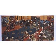 Utagawa Kuniteru: Revelry in the Third Month, Hana no Goten - Edo Tokyo Museum