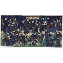 Toyohara Kunichika: Dress Rehearsal: Japanese Chess Figures Arrayed - Edo Tokyo Museum
