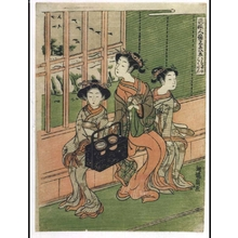 磯田湖龍齋: Eight Views of Elegant Persons: Descending Geese at Sancha - 江戸東京博物館