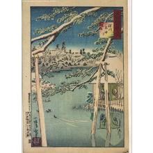 小林清親: A Hundred Views of Musashi: Benten Shrine in the Snow, Fukagawa - 江戸東京博物館