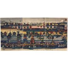 Utagawa Kuniteru: The Kanda Daimyojin Shrine Festival - Edo Tokyo Museum