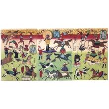 三代目歌川広重: A French Circus Performing in the Precincts of the Shrine to the War Dead - 江戸東京博物館