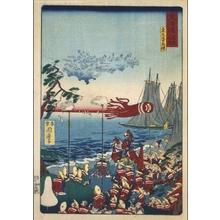 河鍋暁斎: Famous Views of the Tokaido: A Mirage at Kuwana - 江戸東京博物館