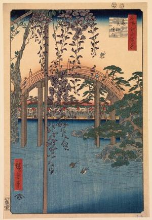 Utagawa Hiroshige: Precincts of the Tenjin Shrine at Kameido (Kameido Tenjin keidai), no. 57 from the series One Hundred Views of Famous Places in Edo (Meisho Edo hyakkei) - Legion of Honor